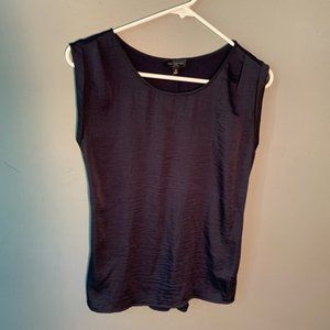 The Limited Sleeveless Blouse Solid Navy Blue